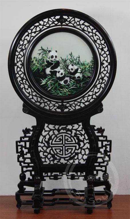熊猫 小型双面绣-中国特色礼品