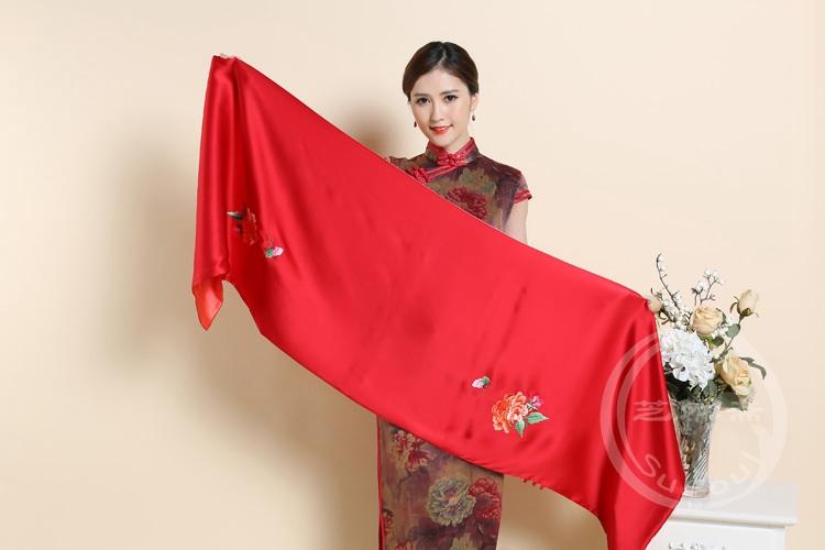 刺绣牡丹披肩