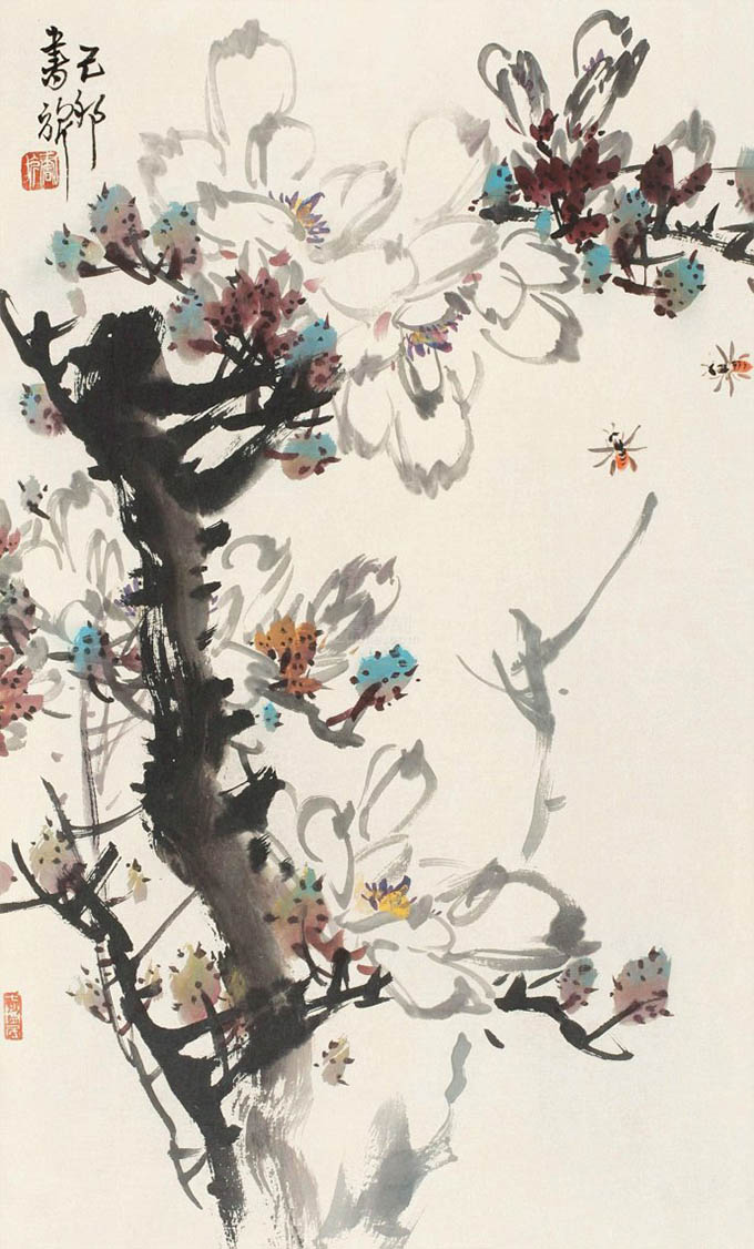 张书旂 《一树玉兰春风》