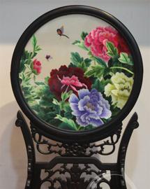 中式礼品 牡丹双面绣