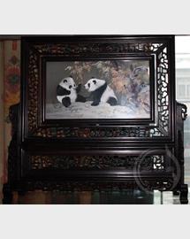 熊猫双面绣