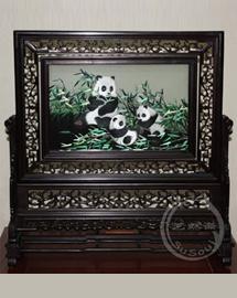 双面绣熊猫