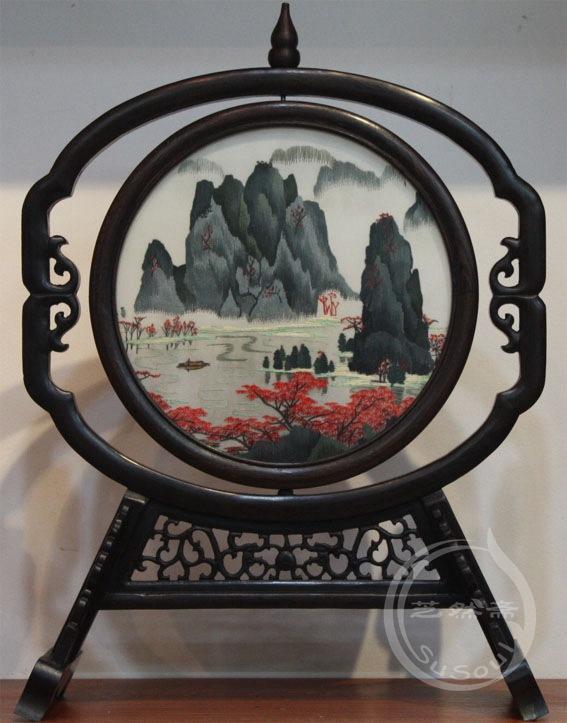 桂林山水 双面绣礼品-鸡翅葫芦架