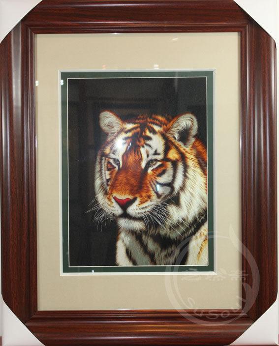 虎头 单面绣-动物