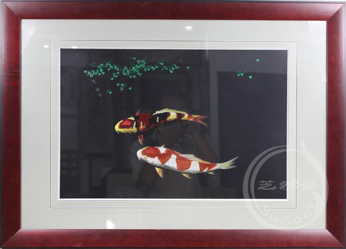 锦鲤鱼 单面绣-鱼