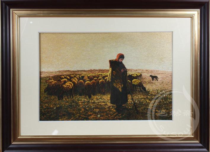 牧羊女 单面绣-人物