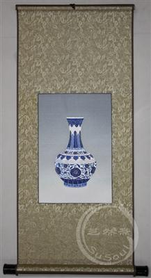 青花瓷  苏绣瓷器