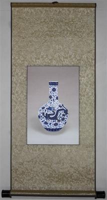 青龙 苏绣瓷器