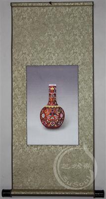 福寿 苏绣瓷器