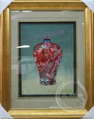 龙瓶 苏绣艺术-瓷器