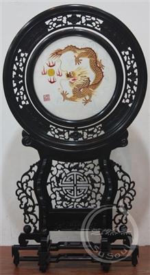 金龙戏珠 小型双面绣-中国特色礼品