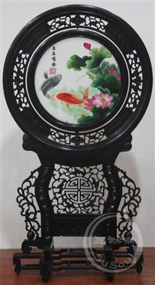 年年有余 小型双面绣-中国特色礼品