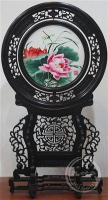小荷尖角 小型双面绣-中国特色礼品