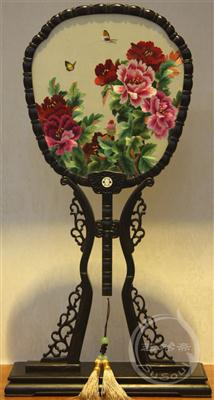 天香 中国风礼品-紫光檀宫扇