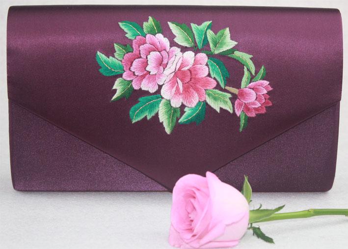 苏绣手袋 旗袍夹包