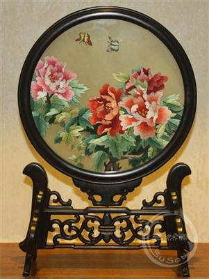 双面绣牡丹 中国特色礼品