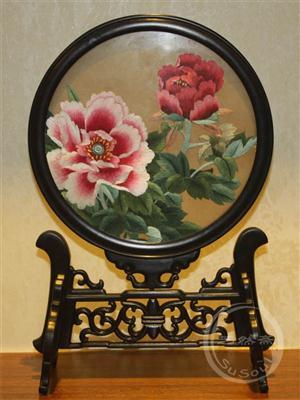 花开富贵 牡丹双面绣
