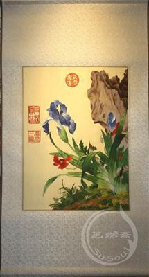 花鸟苏绣画卷 中国元素礼品