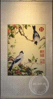 中国特色的礼品 苏绣郎世宁花鸟