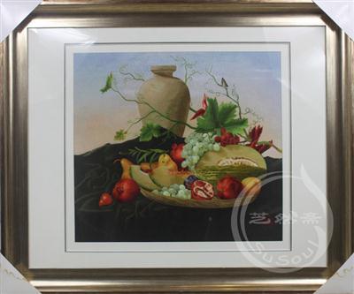 静物 水果与罐子