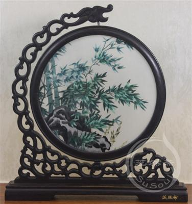 竹子 双面绣