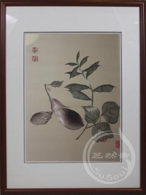 茄子 恽寿平花鸟 顾绣精品