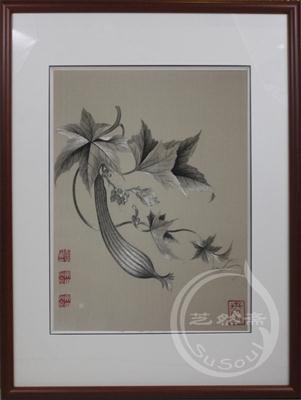 丝瓜 恽寿平花鸟 顾绣精品
