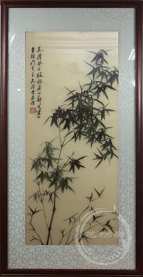 竹子 郑板桥花鸟 精品苏绣