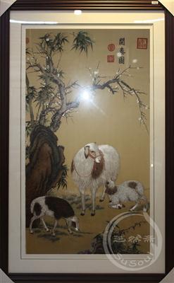 三羊开泰 故宫藏画 顾绣精品