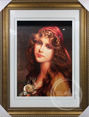 君士坦丁堡女郎 苏绣油画人物精品