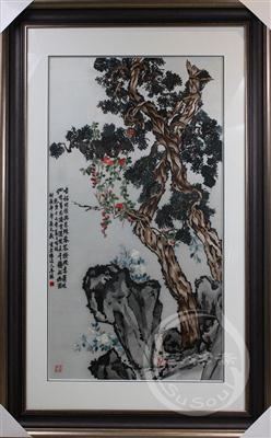 古柏图 李鱓花鸟