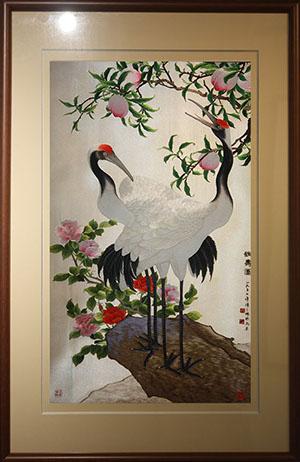 苏绣仙鹤 鹤寿图