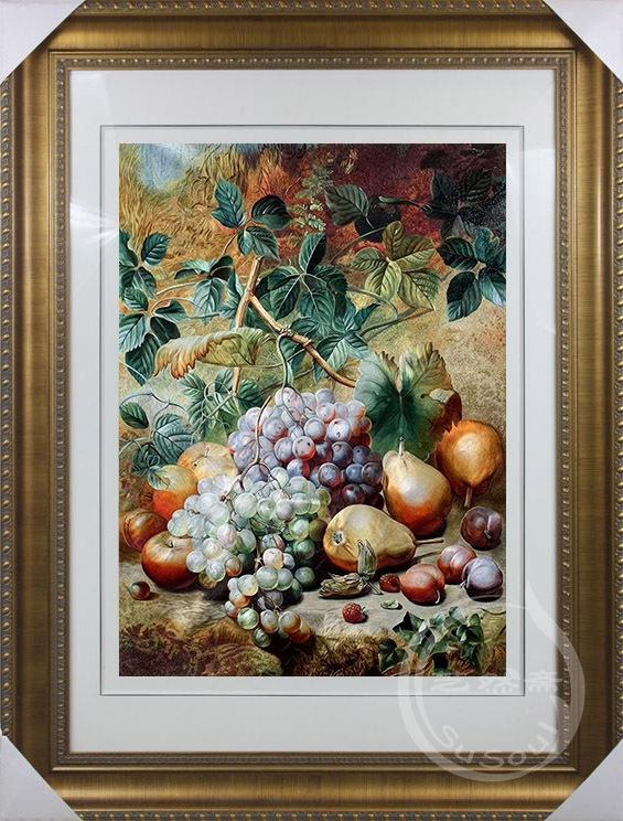 苏绣静物水果 收藏品