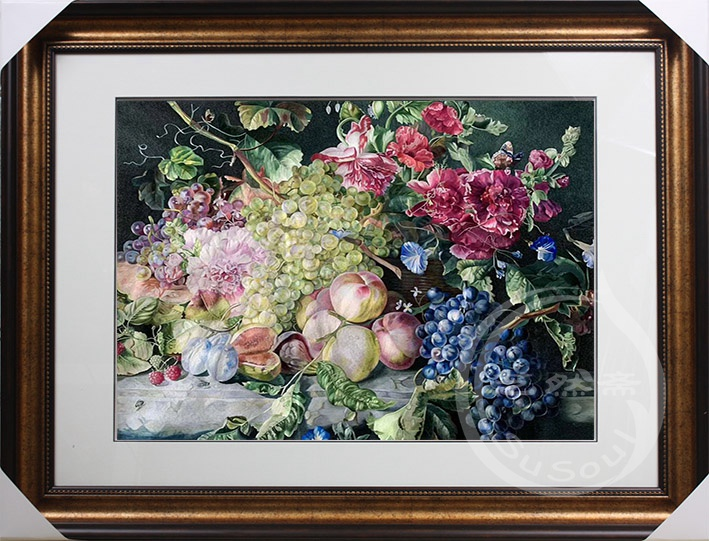 苏绣收藏品 静物水果花卉